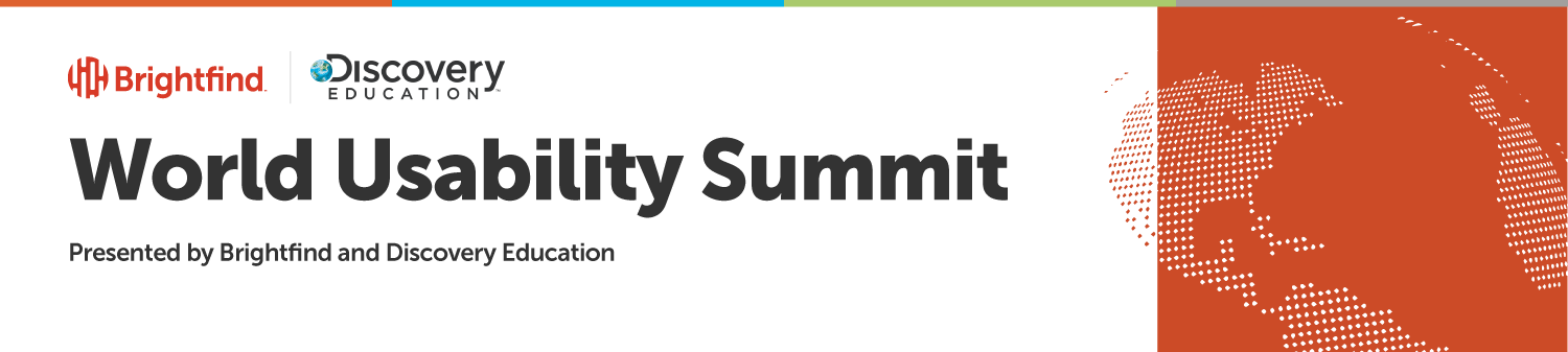 2017 World Usability Summit Graphic Orange Earth